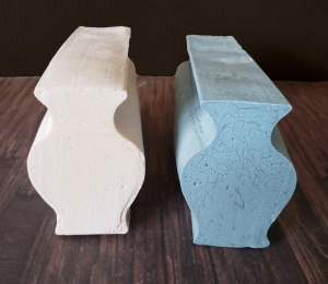 Vase embeds from 3D printed mold